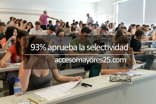alumnos realizando el acceso universidad murcia selectividad
