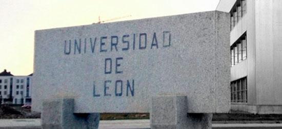 Entrada de la Universidad de Leon en la que se celebraron las pruebas de acceso ala UNILEON